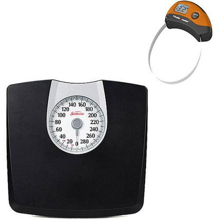 Sunbeam Black Dial Scale Plus Bonus Digital Tape Measure