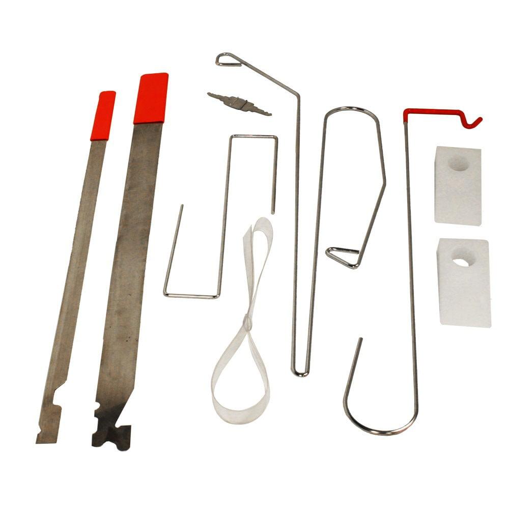 Universal Automobile Lockout Car Door Opener 9 Piece Tool Kit