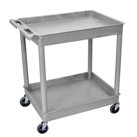Offex OF-TC11-G - 2 Large Tub Shelves Rolling Utility Cart 32