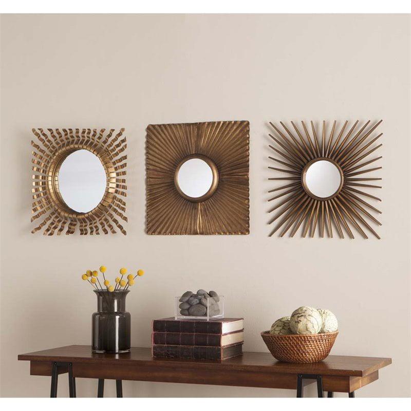 Southern Enterprises Lorzy 3 Piece Decorative Mirror Set Walmart Com