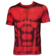 Daredevil Men's Red Sublimated Costume T-Shirt-Small