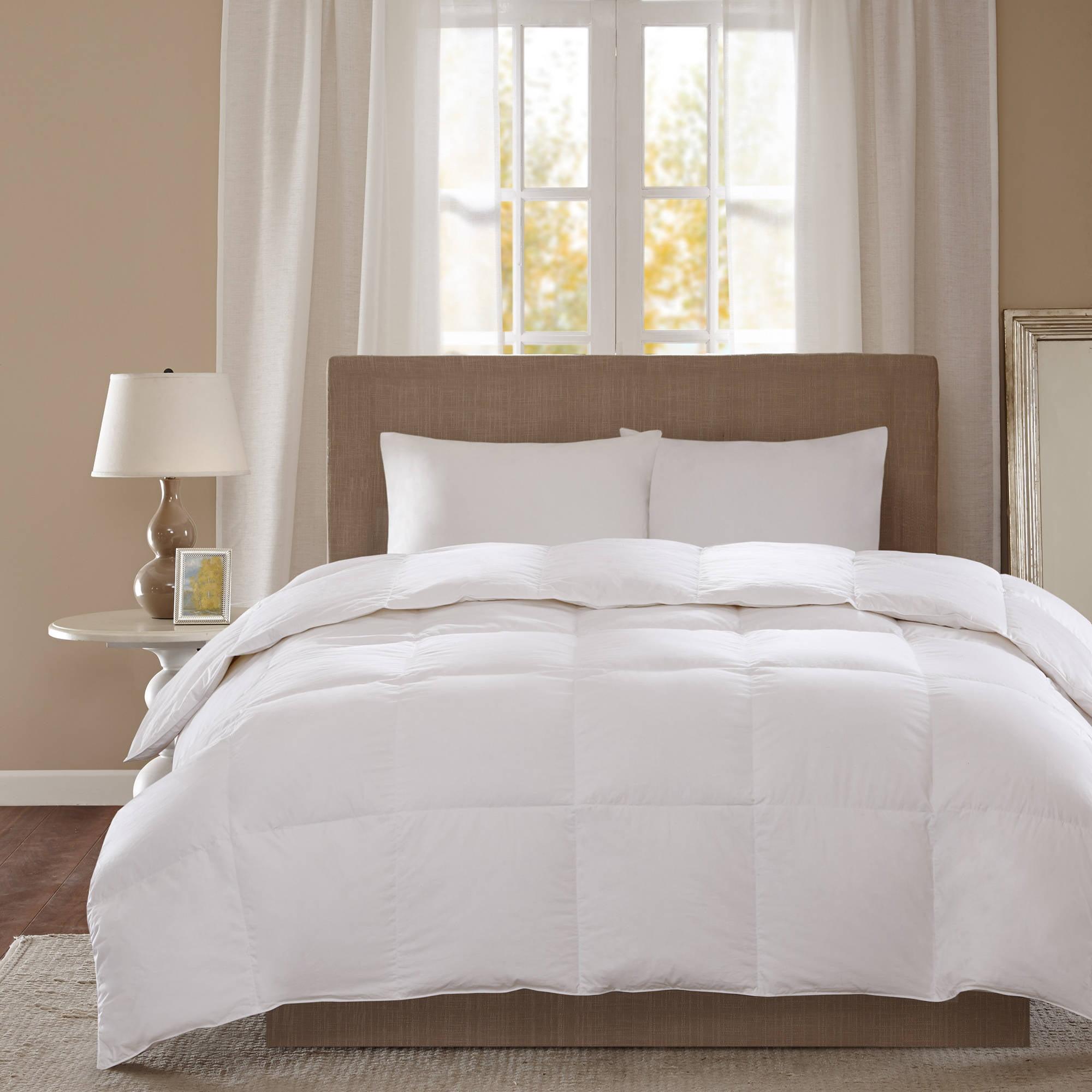 Comfort Classics 300 Thread Count 3M Scotchgard White Down Comforter, Level 2