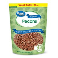 Great Value Chopped Pecans, 24 Oz Value Pack