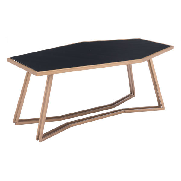 Geo Coffee Table Black & Gold