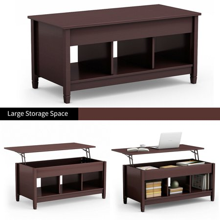 Costway Lift Top Coffee Table W Hidden Compartment And Storage