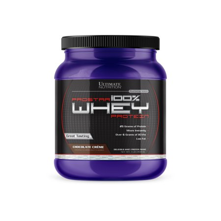 Ultimate Nutrition Prostar 100% Whey Protein Powder - Low Carb and Keto Friendly, Chocolate, 1