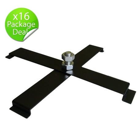 OPTIMA LIGHTING 16pcs Black Floor PAR CAN Stand 4 legs