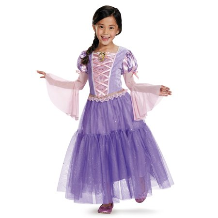 Tangled - Rapunzel Lamé Deluxe Toddler / Child Costume - Medium (7/8) - Best Rapunzel Costume
