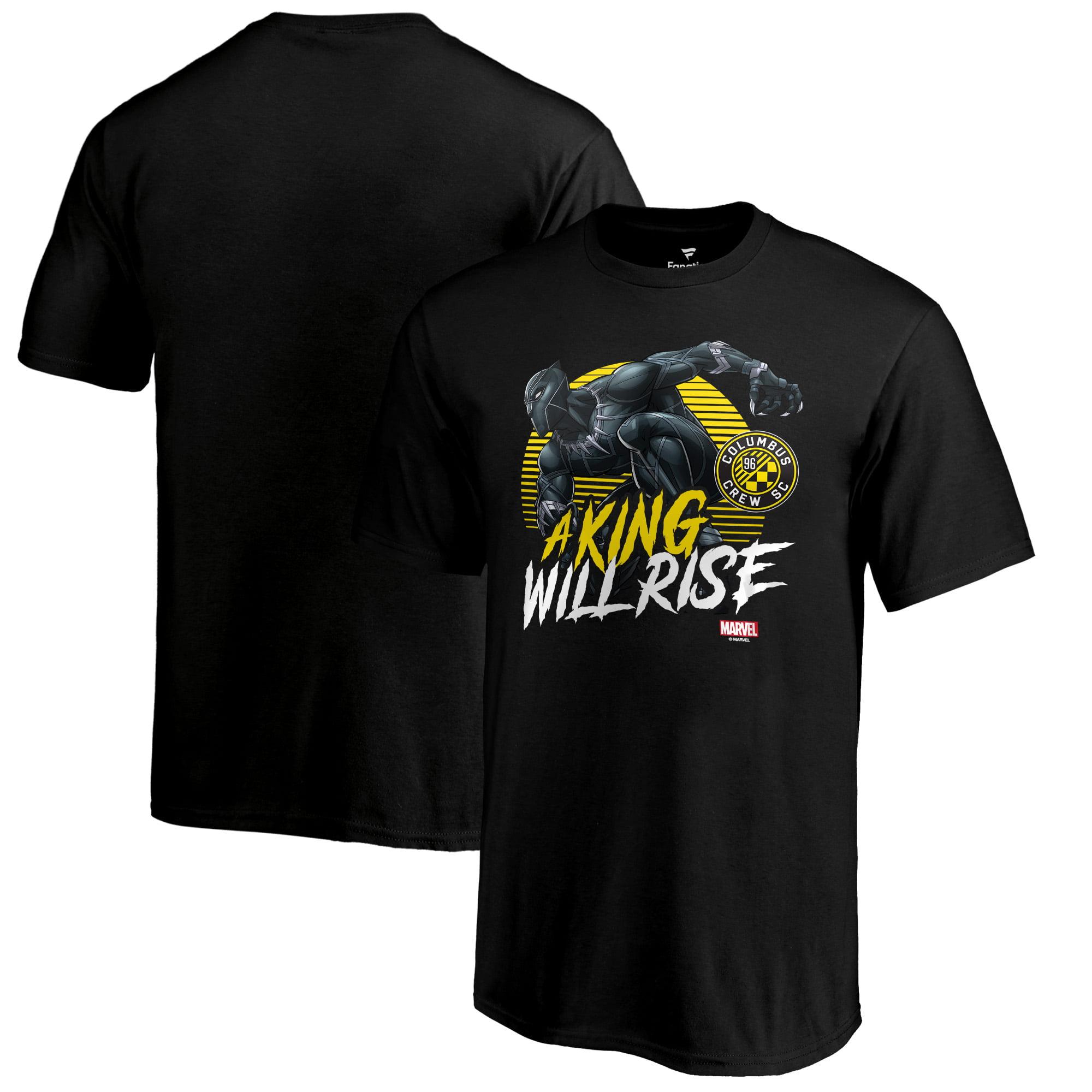 Columbus Crew SC Fanatics Branded Youth Marvel Wakanda Forever T-Shirt - Black