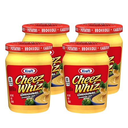 (4 Pack) Kraft Cheez Whiz Original Cheese Dip, 8 oz Jar (Whiz Sp)
