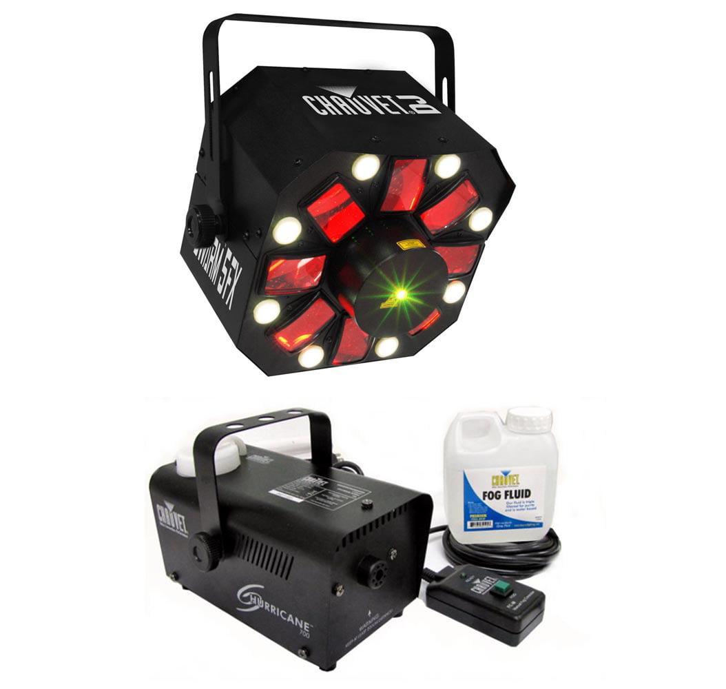 Chauvet DJ Swarm 5 FX LED Derby Laser Light Effect + Hurricane H700 Fog Machine by Chauvet Dj