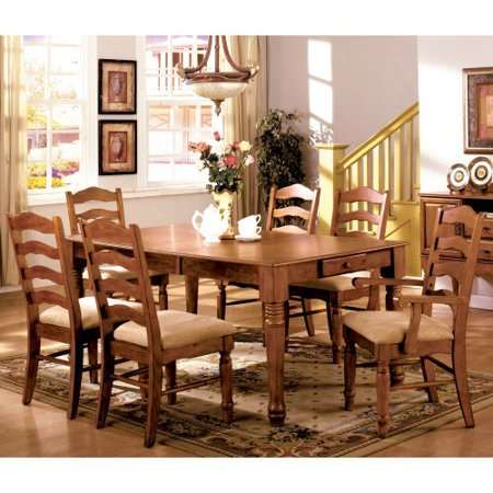 furniture of america dawson 7 piece dining table set