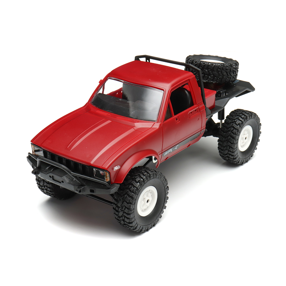WPL C14 1:16 2.4G 4WD Off Road RC Military Car Rock Crawler Truck With Front LED RTR Toys