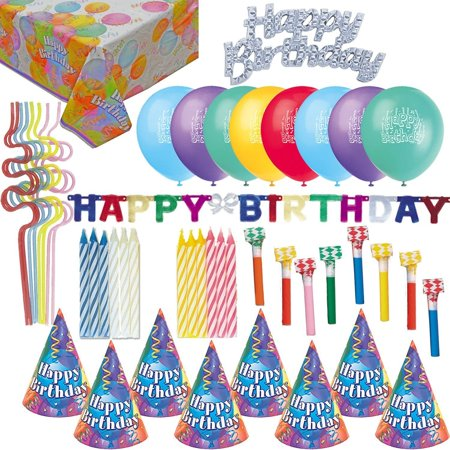 birthday party accessories and decorations hats blowouts candles