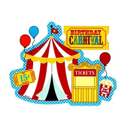Carnival Party Birthday Edible Cake/Cupcake Topper for 1/4 sheet cake](Carnival Theme Cake)