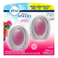 Febreze Small Spaces Air Fresheners, Wild Berries, 0.5 Oz