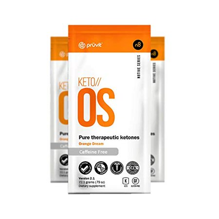 KETO//OS Orange Dream 2.1 Caffeine Free (3 Sachets), BHB Salts Ketogenic (Salt Sachet)