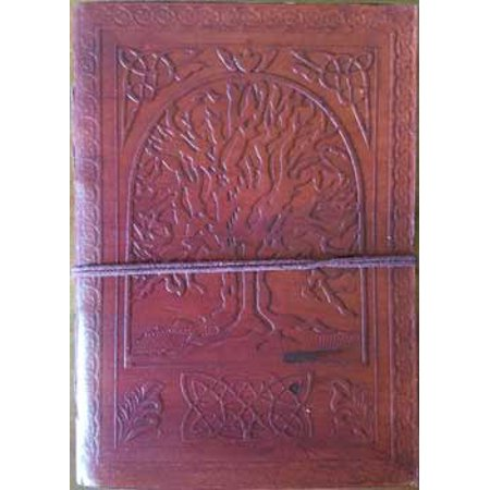 """Tree of Life Celtic Border Embossed Leather Writing Creative Journal Diary Dream Notebook Wrapping Cord Closure 200 Pages Handmade Paper 5"""" x 7"""""""