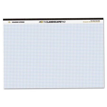 Roaring Spring Wide Landscape Graph Paper Pad 74505
