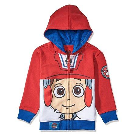Nickelodeon Toddler Paw Patrol Character Big Face Costume Zip-up Hoodies (2T, Ryder)