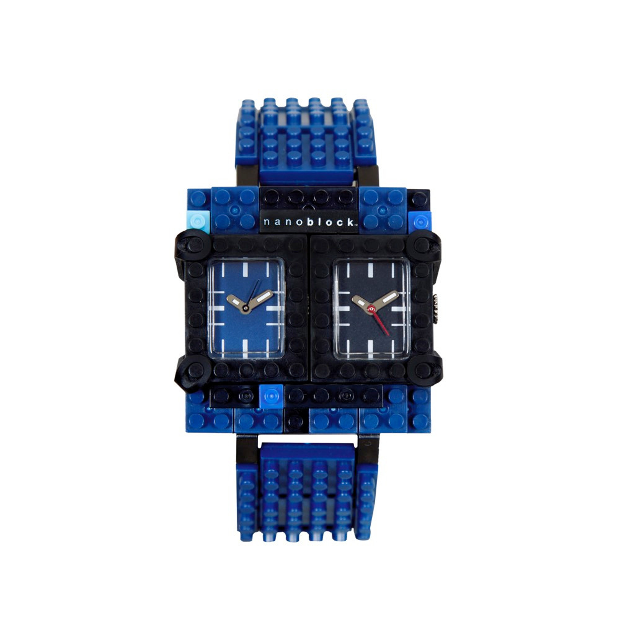 Nanoblocktime Traveler Watch, Blue and Black by Beta Enteprises Inc.
