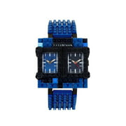 Nanoblocktime Traveler Watch, Blue and Black