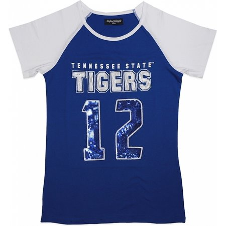 pretty nice fd526 b87c2 Big Boy Tennessee State Tigers Ladies Sequins Patch Tee [Royal Blue - 2XL]