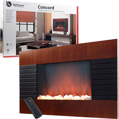 Northwest Concord Electric Fireplace Heater with Remote