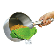 Peralng kitchen Strain Silicone Food Strainer, Clip On Silicone Colander, Flexible Fits all Size Pots, Pans, Bowls - Strain for Pasta, spaghetti, Noodles, Vegetables, Potatoes,Green