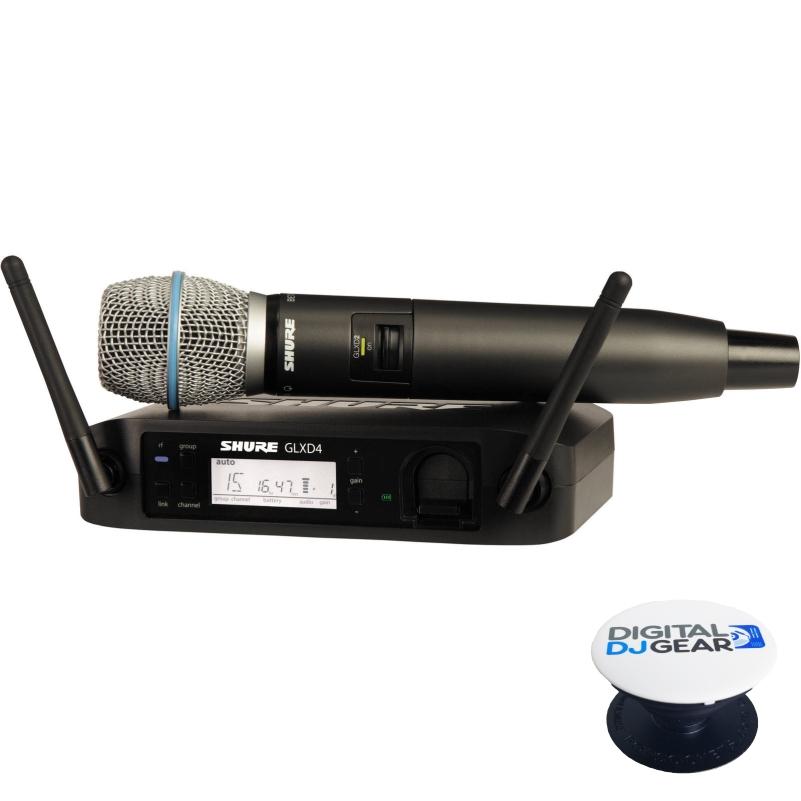 Shure GLXD24 B87A Rechargable Wireless System w  BETA87A Mic W Free Pop Socket by Shure