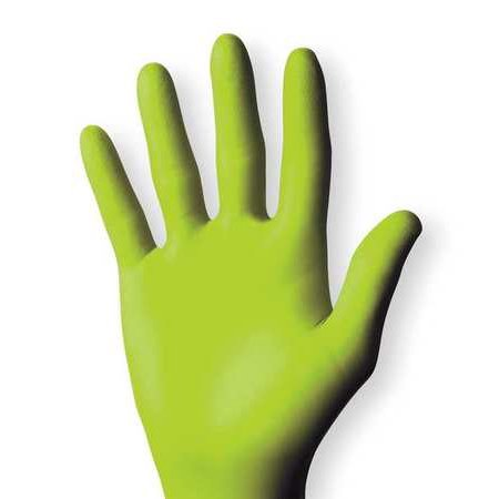 SHOWA BEST 7705PFTS Green Nitrile Disposable Gloves, S, (Best Heated Gloves For Raynaud's Syndrome)