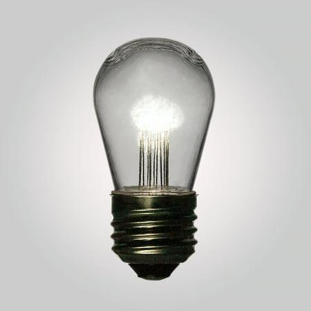 Fantado White 0.7-Watt LED S14 Sign Light Bulb, Shatterproof, E26 Medium Base by PaperLanternStore