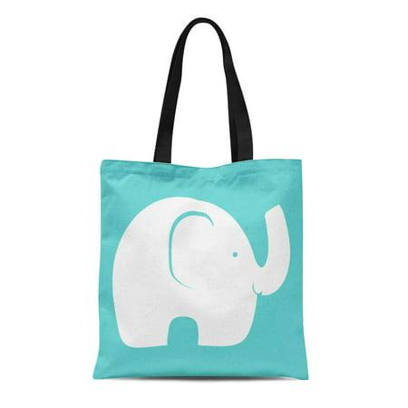 POGLIP Canvas Tote Bag Mammals Elephant Pattern Safari Pachyderm Zoo Reusable Handbag Shoulder Grocery Shopping Bags - image 1 de 1