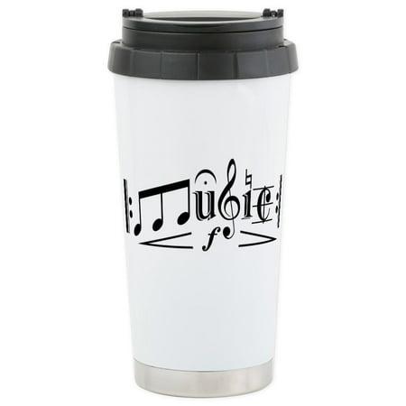 CafePress - MUSIC Stainless Steel Travel Mug - Stainless Steel Travel Mug, Insulated 16 oz. Coffee - This Is Halloween Music Box Tumblr