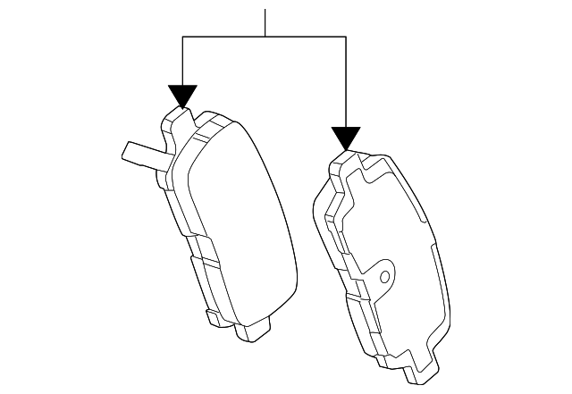 Genuine Oe Gm Brake Pads 18048690