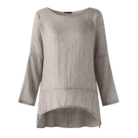 Womens O Neck Long Sleeve Solid Pullover Blouses Tops Shirts ()