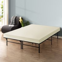 Best Price Mattress 6 Inch Memory Foam Mattress and Dual-Use Steel Bed Frame/Foundation Set, Multiple Sizes