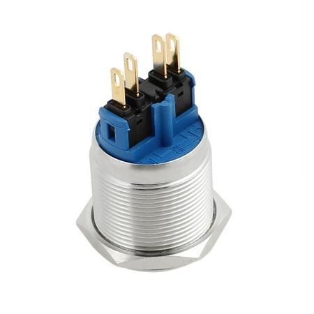 Montage 22 mm diamètre acier inoxydable verrouillage bombés Interrupteur bouton-poussoir métal - image 3 de 7