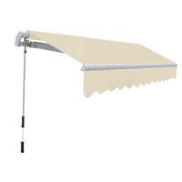 Outdoor Folding Awning 10' x 8' - Cream