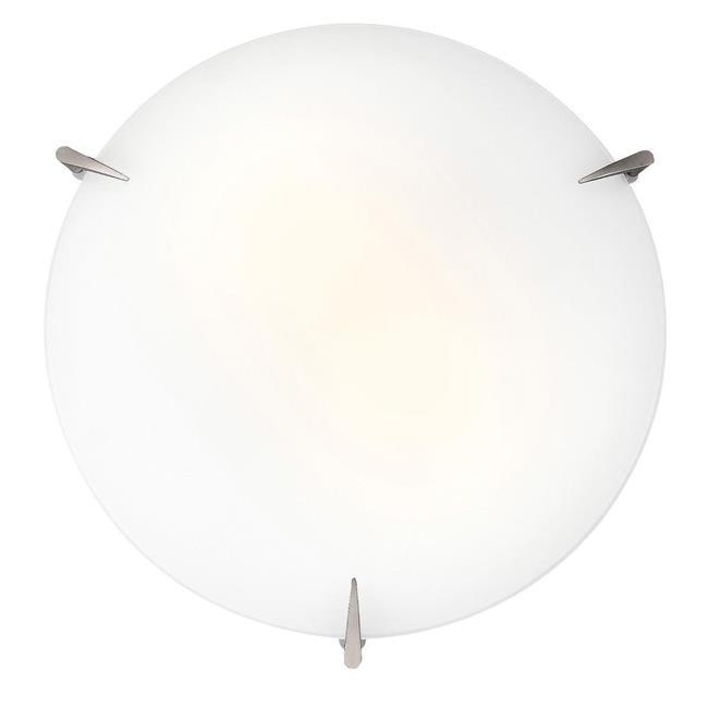 Access Lighting 20661GU-BS-OPL Zenon 2 Light Brushed Steel Flush Mount Ceiling Light in Fluorescent by Access Lighting