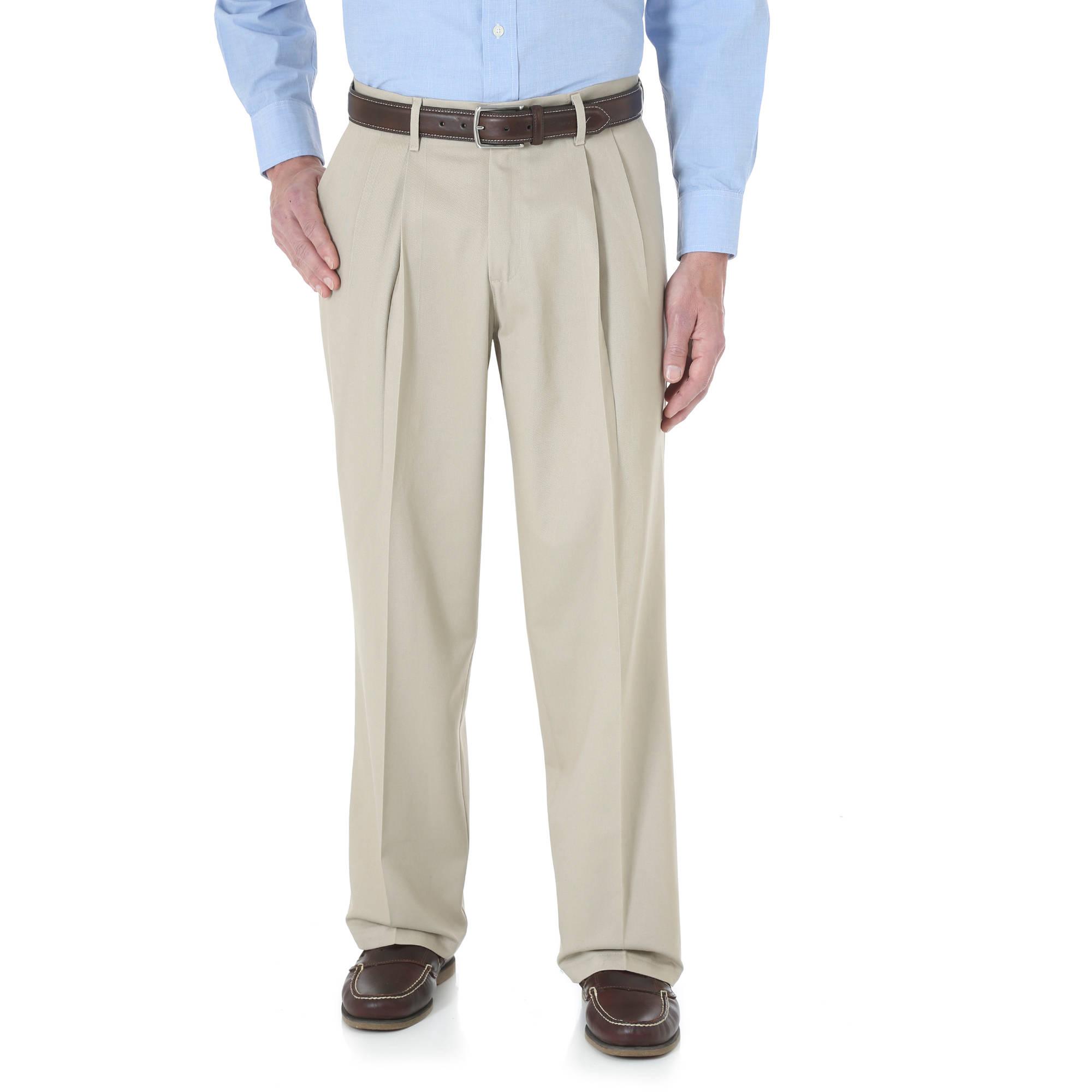 Wrangler Big Mens No Iron Pleated Casual Pant