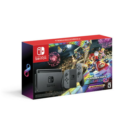 Nintendo Switch Bundle with Mario Kart 8 Deluxe - Gray