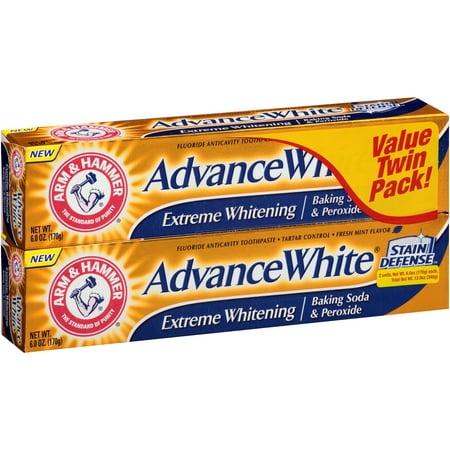 Extreme blanc Advance bicarbonate de soude et de blanchiment Peroxyde Dentifrice 6 oz 2 pk