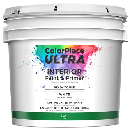 ColorPlace Ultra Interior Paint & Primer - Ready to Use White - Color Plate