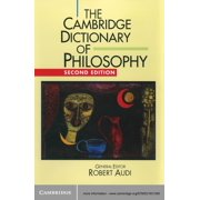 The Cambridge Dictionary of Philosophy - eBook