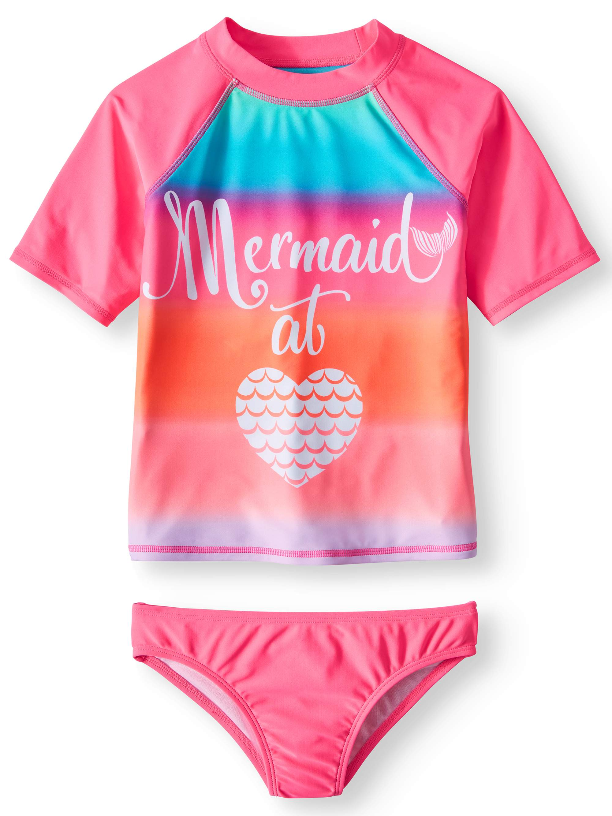 5ae75014fb Wonder Nation - Rash Guard and Bikini Bottom, 2-Piece Swim Set (Little  Girls, Big Girls & Big Girls Plus) - Walmart.com