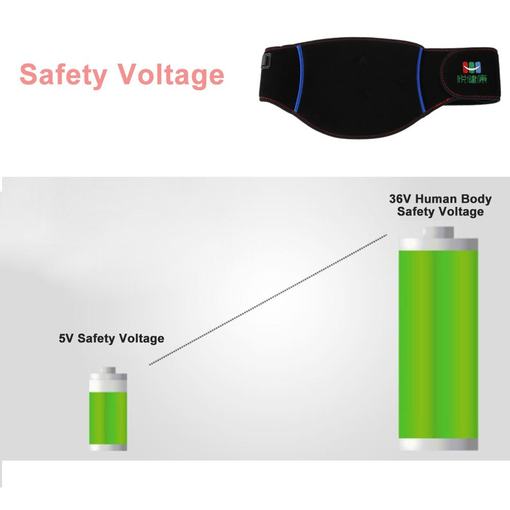 WALFRONT Graphene Far Infrared Waist Supporter Physiotherapy Heating Uterus Protection Belt,Far Infrared Waist Supporter, Heated Waist Support - image 3 of 10