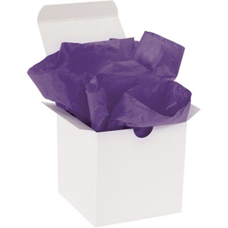 box partners t1520q 15 x 20 in. purple gift grade tissue paper for 10 lbs basis weight Weight Box Paper