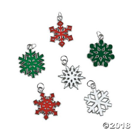 Christmas Snowflake Enamel Charms