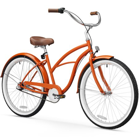 26 sixthreezero women 39 s dreamcycle three speed beach cruiser bicycle glossy orange. Black Bedroom Furniture Sets. Home Design Ideas
